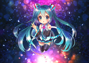 Rating: Safe Score: 0 Tags: 1girl 39 aqua_eyes aqua_hair boots detached_sleeves gem green_eyes green_hair hatsune_miku highres long_hair looking_at_viewer necktie open_mouth skirt solo thigh_boots thighhighs twin_tails very_long_hair vocaloid waving yamori_(stom) zettai_ryouiki User: DMSchmidt