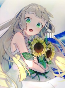 Rating: Safe Score: 1 Tags: 1girl bangs bare_arms blonde_hair blunt_bangs braid collared_dress dress flower green_eyes hat lillie_(pokemon) long_hair open_mouth pokemon pokemon_(game) pokemon_sm sleeveless sleeveless_dress solo sun_hat sundress sunflower twin_braids white_dress white_headwear yuno_tsuitta User: DMSchmidt