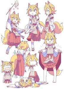 Rating: Safe Score: 1 Tags: /\/\/\ 1girl :d :o animal_ear_fluff animal_ears apron bangs blonde_hair covering_mouth crying eyebrows_visible_through_hair fang flower fox_ears fox_girl fox_tail geta hair_between_eyes hair_flower hair_ornament highres japanese_clothes lifted_by_self looking_at_viewer looking_away lying miko multiple_views on_back open_mouth ribbon-trimmed_sleeves ribbon_trim roku_no_hito senko_(sewayaki_kitsune_no_senko-san) sewayaki_kitsune_no_senko-san short_hair simple_background skin_fang skirt skirt_lift smile socks standing tail white_background white_legwear wide-eyed wide_sleeves yellow_eyes |_| User: Domestic_Importer