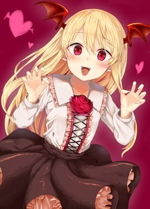 Rating: Safe Score: 3 Tags: 1girl :d absurdres bangs black_skirt blonde_hair blush center_frills claw_pose collarbone collared_shirt cross-laced_clothes demon_wings dutch_angle eyebrows_visible_through_hair fang fingernails flower frilled_shirt_collar frills hands_up head_wings heart highres long_fingernails long_hair long_sleeves looking_at_viewer open_mouth pink_background pink_flower pink_frills pink_rose pointy_ears raised_eyebrows red_eyes rose shadowverse sharp_fingernails shingeki_no_bahamut shirt simple_background skirt smile solo vampire vampy white_shirt wings yamato_(muchuu_paradigm) User: DMSchmidt