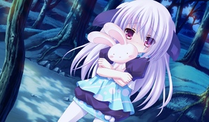 Rating: Safe Score: 0 Tags: animal_ears blush bunny_ears dress forest game_cg night purple_hair red_eyes solo stuffed_animal stuffed_bunny stuffed_toy tights tsukumo_(tsukumonotsuki) tsukumonotsuki white_legwear white_tights younger User: Fui
