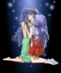 Rating: Questionable Score: 1 Tags: 2girls absurdres adapted_uniform bangs barefoot blue_hair blunt_bangs closed_eyes dress furude_rika green_dress hanyuu highres higurashi_no_naku_koro_ni holding_hands horns japanese_clothes kazuki_(qjqy) kneeling long_hair miko multiple_girls mutual_yuri nopan official_style purple_eyes purple_hair sleeveless socks strap_slip tabi yuri User: DMSchmidt