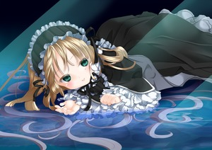 Rating: Safe Score: 0 Tags: 1girl amano_sakuya black_dress blonde_hair coloured coloured_eyelashes dress frills gosick gothic_lolita green_eyes hairband lolita_fashion long_hair looking_at_viewer lying lying_on_water on_stomach ribbon solo tsuruoka_masayoshi_to_junjou_romantica_2 very_long_hair victorica_de_blois wt User: Domestic_Importer