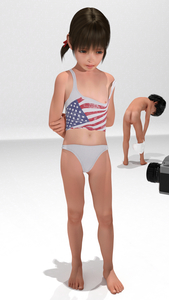 Rating: Explicit Score: 2 Tags: 1boy 1girl 3dcg american_flag arms_behind_back ass barefoot brown_hair camera flat_chest full_body highres legs_apart looking_down midriff nipples off_shoulder original pantsu photorealistic pink_pantsu print_shirt short_twin_tails shota standing testicles tiantian_(creatorgod) toes twin_tails underwear undressing User: Domestic_Importer