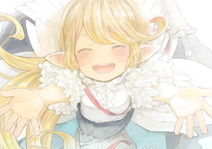 Rating: Safe Score: 3 Tags: 1girl :d ^_^ blonde_hair blush charlotta_fenia closed_eyes facing_viewer frills granblue_fantasy happy harvin incoming_hug long_hair open_mouth outstretched_arm pointy_ears sheath short smile solo walkalone User: DMSchmidt