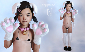 Rating: Explicit Score: 36 Tags: 3dcg absurdres american_girls_paradise animal_ears collar highres natsuki paw_gloves photorealistic sxxthk_(artist) User: tenzeros