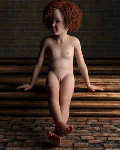 Rating: Explicit Score: 5 Tags: 1girl 3ddased brick_wall brown_eyes curly_hair flat_chest freckles nude pussy red_hair short_hair sitting User: flondrix