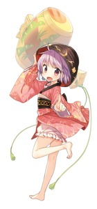 Rating: Safe Score: 1 Tags: 1girl bare_legs barefoot bowl floral_print hat highres japanese_clothes kimono long_sleeves miracle_mallet obi open_mouth pointing pointing_at_viewer purple_eyes purple_hair sash shinoba smile solo standing_on_one_leg sukuna_shinmyoumaru touhou_project wide_sleeves User: DMSchmidt