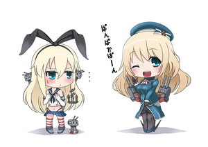 Rating: Safe Score: 0 Tags: 10s 2girls :< atago_(kantai_collection) blonde_hair blue_eyes breast_envy chibi highres kantai_collection military military_uniform multiple_girls one_eye_closed pan-pa-ka-paaan! pantyhose personification pleated_skirt rensouhou-chan school_uniform serafuku shimakaze_(kantai_collection) skirt striped striped_legwear thighhighs uniform yaosera User: Domestic_Importer
