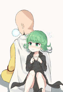 Rating: Safe Score: 2 Tags: 1boy 1girl absurdres back-to-back bald black_dress blush cape chicking curly_hair dress fingers_together green_eyes green_hair highres nose_bubble one-punch_man saitama_(onepunch_man) short_hair sitting sleeping smile sweatdrop tatsumaki User: DMSchmidt