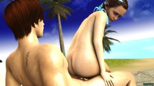 Rating: Questionable Score: 8 Tags: 1boy 1girl 3dcg age_difference ass beach deadbolt flat_chest hair_ribbon looking_back natalia_korda nipples nude ocean outdoors penis photorealistic ribbon sex sitting source_filmmaker tattoo User: fantasy-lover