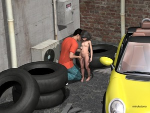 Rating: Explicit Score: 2 Tags: 1boy 1girl 3dcg brick_wall dodomingo fan fingering nipples nude pussy shiny shiny_hair small_breasts tire vehicle User: Domestic_Importer