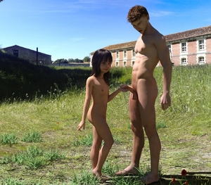Rating: Explicit Score: 13 Tags: 1boy 1girl 3dcg age_difference ass bangs barefoot black_hair blunt_bangs flat_chest holding_penis looking_at_viewer navel nipples nude penis photorealistic pose public slimdog testicles tiptoes User: fantasy-lover