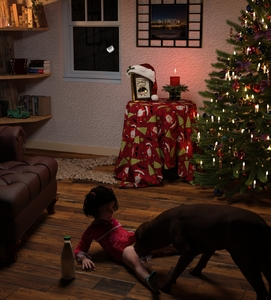 Rating: Explicit Score: 23 Tags: 3dcg bestiality black_hair bottle bottomless candle chair christmas_tree cunnilingus dog fire highres indoors leaning_back long_sleeves oral original photorealistic red_hat santa_hat sitting slimdog socks spread_legs tree window User: Domestic_Importer