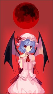 Rating: Safe Score: 0 Tags: 1girl ascot bat_wings black_wings blue_hair cowboy_shot dress finicaltub frills gradient gradient_background hat hat_ribbon highres looking_at_viewer mob_cap moon navel no_lineart red_background red_eyes red_ribbon red_sky reference_work remilia_scarlet ribbon scarlet short_hair sky solo touhou_project wings User: DMSchmidt
