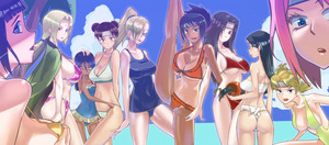 Rating: Safe Score: 2 Tags: 6+girls :d :o >:o age_difference alternate_costume arm_behind_back arm_up ass back bangs bare_shoulders beach bikini black_hair blonde_hair blue_eyes blue_swimsuit blunt_bangs blush bow bow_bikini breast_pillow breasts brown_eyes brown_hair casual_one-piece_swimsuit center_opening cleavage cloud coloured_eyelashes covered_nipples covering covering_breasts cowtits curry_(dbt) double_bun facial_mark flat_chest flexible folded_ponytail forehead_mark forehead_protector frilled_swimsuit frills fundoshi green_eyes green_swimsuit grey_eyes hair_ornament hair_over_one_eye hair_tie hand_on_another's_head haruno_sakura headband high_ponytail hips holding holding_hair hug hyuuga_hanabi hyuuga_hinata jacket_on_shoulders japanese_clothes kin_tsuchi konohagakure_symbol large_breasts leaning_forward leg_lift legs_apart lipstick long_hair long_image looking_at_viewer looking_back low-tied_long_hair low_twintails makeup midriff milf mitarashi_anko multiple_girls naruto_(series) navel ocean one-piece_swimsuit one-piece_tan one_eye_closed one_leg_raised open_mouth orange_bikini outdoors palm_tree parted_bangs perky_breasts pink_hair ponytail profile purple_bikini quad_tails raised_eyebrows red_bikini red_eyes sarashi school_swimsuit short_hair siblings side-tie_bikini sideboob silver_eyes sisters sky smile sports_bikini standing standing_on_one_leg strap_gap strap_lift swimsuit tan tanline temari tenten thong tied_hair tree tsuchi_kin tsunade twin_tails underboob uneven_eyes v-shaped_eyebrows water wide_image wince yamanaka_ino yellow_bikini yuuhi_kurenai User: Domestic_Importer