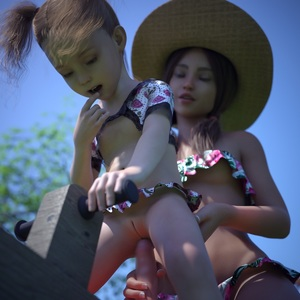 Rating: Explicit Score: 86 Tags: 2girls 3dcg age_difference finger_to_mouth guided_penetration hat holding_penis imminent_penetration multiple_girls penis photorealistic pussy shadow side_ponytail smile source_request starkers toy User: fantasy-lover