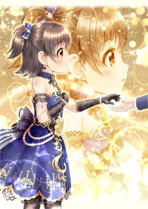 Rating: Safe Score: 0 Tags: 1girl akagi_miria bangs bare_shoulders black_gloves black_legwear blue_bow blue_dress blush bo bow brown_eyes brown_hair dress elbow_gloves eyebrows_visible_through_hair gloves hair_between_eyes hair_bow hand_on_own_chest highres idolmaster idolmaster_cinderella_girls idolmaster_cinderella_girls_starlight_stage lace lace_gloves long_sleeves one_side_up out_of_frame pantyhose parted_lips producer_(idolmaster) regular_mow sidelocks sleeveless sleeveless_dress solo_focus standing striped striped_bow User: Domestic_Importer