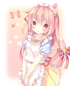 Rating: Safe Score: 2 Tags: 1girl adapted_costume alternate_costume animal_ears apron azur_lane bangs bell blue_shirt blush bow cat_ears cat_girl cat_tail enmaided eyebrows_visible_through_hair food_print frilled_apron frills hair_between_eyes hair_ribbon headdress highres jingle_bell kindergarten_uniform kisaragi_(azur_lane) looking_at_viewer maid maid_headdress parted_lips pink_hair pleated_skirt polka_dot polka_dot_background print_apron puffy_short_sleeves puffy_sleeves red_bow red_eyes red_ribbon ribbon shirt short_sleeves skirt solo strawberry_print tail tail_bell tail_bow tears tsuruse v_arms white_apron yellow_bow yellow_skirt User: DMSchmidt