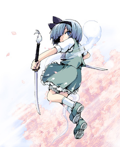 Rating: Safe Score: 0 Tags: 1girl blue_eyes blue_hair ham_(points) hitodama konpaku_youmu konpaku_youmu_(ghost) mary_janes ribbon shoes solo sword team_shanghai_alice touhou_project weapon User: DMSchmidt