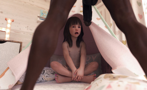 Rating: Explicit Score: 49 Tags: 1boy 1girl 3dcg age_difference bangs barefoot black_hair blunt_bangs brown_skin dark_skinned_male flat_chest interracial legs_apart looking_up nail_polish nipples open_mouth penis penis_awe photorealistic sabine_heinrich sitting standing teeth testicles User: fantasy-lover