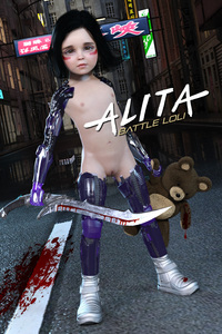 Rating: Questionable Score: 32 Tags: 1girl 3dcg alita_battle_angel artist_request black_hair blood brown_eyes cyborg flat_chest gally gunnm highres looking_at_viewer navel nipples photorealistic pussy short_hair solo standing stuffed_animal stuffed_toy sword teddy User: mushimushi