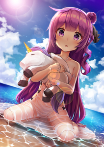 Rating: Safe Score: 2 Tags: 1girl absurdres azur_lane bangs bare_shoulders black_bow black_ribbon blue_sky blush bow cloud day detached_sleeves dress dutch_angle eyebrows_visible_through_hair gui_ss hair_bun hair_ribbon halterneck highres horizon long_hair long_sleeves looking_at_viewer object_hug ocean one_side_up outdoors pantsu parted_lips purple_eyes purple_hair revision ribbon see-through side_bun sitting sky sleeves_past_wrists solo stuffed_animal stuffed_pegasus stuffed_toy stuffed_unicorn sundress underwear unicorn_(azur_lane) very_long_hair wariza water wet wet_clothes wet_dress white_dress User: DMSchmidt