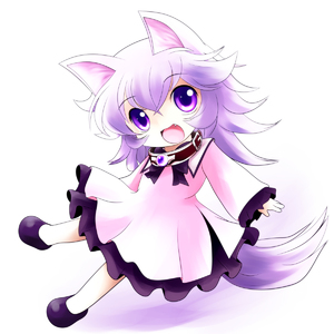 Rating: Safe Score: 0 Tags: 1girl animal_ears collar fang gradient highres long_sleeves open_mouth original purple_eyes purple_hair short_hair simple_background solo white_background yume_shokunin User: DMSchmidt