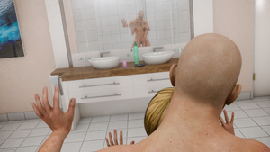 Rating: Explicit Score: 13 Tags: 1boy 1girl 3dcg against_glass age_difference bathroom blonde_hair breasts covering_pussy dildo father_and_daughter from_behind glass highres incest jeiba mirror nipples nude photorealistic ponytail reflection sex sex_toy shower sink small_breasts standing tiptoes uncensored User: Software