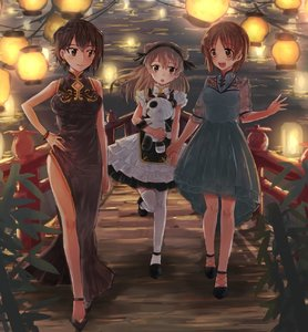 Rating: Safe Score: 2 Tags: 3girls bangs black_footwear black_hairband blue_dress boko_(girls_und_panzer) bracelet bridge brown_eyes brown_hair china_dress chinese_clothes double_bun dress earrings girls_und_panzer hair_ribbon hairband highres holding holding_hand holding_stuffed_animal jewellery lantern layered_skirt light_brown_hair long_hair multiple_girls nishizumi_maho nishizumi_miho paper_lantern ribbon senta_(ysk_0218) shimada_arisu short_hair skirt sleeveless sleeveless_dress stuffed_animal stuffed_toy thighhighs white_legwear white_skirt User: DMSchmidt