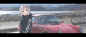 Rating: Safe Score: 0 Tags: 1girl bangs black_hoodie car covered_mouth day green_eyes ground_vehicle hair_ornament hairclip hand_up head_tilt hei_(tonarinohey) hood hood_down hoodie lake long_sleeves looking_at_viewer motor_vehicle mountain outdoors porsche porsche_911 road scenery silver_hair water yama_no_susume yukimura_aoi User: DMSchmidt