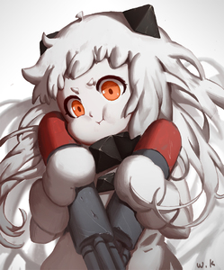 Rating: Safe Score: 1 Tags: 1girl :i blurry blurry_background closed_mouth depth_of_field dress grey_background kantai_collection long_hair looking_at_viewer mittens northern_ocean_hime orange_eyes pout shinkaisei-kan signature solo standing torpedo upper_body very_long_hair waterkuma white_dress white_hair User: DMSchmidt