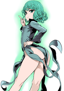 Rating: Safe Score: 3 Tags: 1girl aqua_eyes aqua_hair arched_back asanagi ass black_dress breasts covered_nipples dress green hand_on_hip index_finger_raised long_sleeves looking_at_viewer nopan one-punch_man short_hair small_breasts smile solo tatsumaki wind_lift User: DMSchmidt