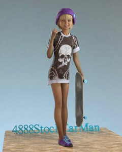 Rating: Safe Score: 6 Tags: 1girl 3dcg 4888stockcarman bangs blonde_hair blue_eyes blunt_bangs fishnets helmet josephine looking_at_viewer photorealistic pose shoes skateboard smile standing User: fantasy-lover