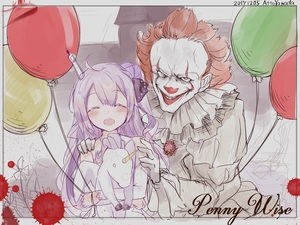 Rating: Safe Score: 0 Tags: 1boy 1girl :d ^_^ artist_name attoyamada azur_lane balloon bare_shoulders black_ribbon blood blush character_name closed_eyes clown criss-cross_halter crossover dated detached_sleeves dress evil_grin evil_smile facepaint facing_viewer grin hair_bun hair_ribbon halterneck hand_on_another's_shoulder head_tilt highres it_(stephen_king) long_sleeves looking_at_viewer one_side_up open_mouth pennywise photo_(object) purple_hair red_hair ribbon side_bun sketch smile stuffed_animal stuffed_pegasus stuffed_toy stuffed_unicorn unicorn_(azur_lane) upper_teeth white_dress User: DMSchmidt