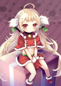 Rating: Safe Score: 0 Tags: 1girl ahoge azur_lane bell box capelet christmas eldridge_(azur_lane) gift gift_box gloves hair_ornament hairclip light_brown_hair long_hair looking_at_viewer navel orange_eyes parted_lips red_gloves santa_costume sitting solo twin_tails v_arms yukiyuki_441 User: DMSchmidt