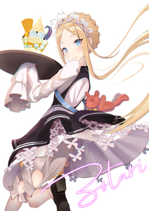 Rating: Safe Score: 2 Tags: 1girl abigail_williams_(fate/grand_order) bangs black_dress black_footwear blonde_hair blush braid dress fate/grand_order fate_(series) food highres holding ice long_hair looking_at_viewer maid maid_dress parted_bangs shoes signature simple_background sleeves_past_fingers sleeves_past_wrists smile solo stuffed_animal stuffed_toy teddy_bear tentacles waffle white_background white_dress zotari User: DMSchmidt