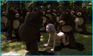 Rating: Explicit Score: 61 Tags: 1girl 3dcg after_sex all_fours ass barefoot blonde_hair cum cumdrip facial flat_chest forest from_behind gangbang group_sex itigus_(artist) kneeling nude open_mouth photorealistic purple_hair sex stuffed_toy teddy_bear User: regatta
