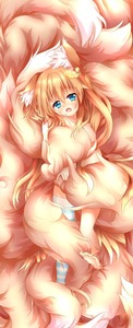 Rating: Safe Score: 3 Tags: 1girl absurdres animal_ear_fluff animal_ears bangs blonde_hair blue_eyes blue_legwear cloud fang flying_nimbus fox_ears fox_girl fox_tail hair_between_eyes highres kyuubi large_tail long_hair looking_at_viewer macaroni710 multiple_tails open_mouth original single_thighhigh solo striped striped_legwear tail tail_hold tail_hug thighhighs very_long_hair User: DMSchmidt