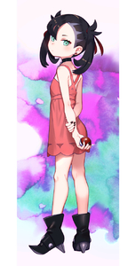 Rating: Safe Score: 5 Tags: 1girl aqua_eyes asymmetrical_bangs asymmetrical_hair bangs black_footwear black_hair black_nails blush boots choker closed_mouth dress ear_piercing full_body hair_ribbon highres holding holding_poke_ball mary_(pokemon) medium_hair multicolored_background multicoloured nail_polish piercing pink_dress poke_ball pokemon pokemon_(game) pokemon_swsh ribbon shamonabe sleeveless sleeveless_dress solo standing User: DMSchmidt