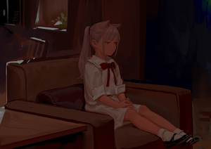 Rating: Safe Score: 0 Tags: 1girl animal_ears armchair cat_ears chair dress ears feiqizi_(fkey) fkey looking_away mary_janes original ponytail red_eyes shoes silver_hair sitting solo useless_tags white_dress User: DMSchmidt