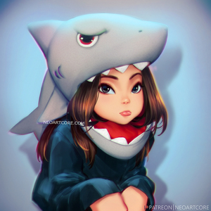 Rating: Safe Score: 0 Tags: 1girl brown_hair eyebrows_visible_through_hair face grey_eyes lips long_hair looking_at_viewer nose nudtawut_thongmai original shark_costume sitting solo watermark web_address younger User: DMSchmidt