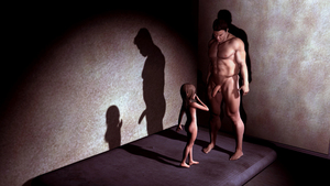 Rating: Explicit Score: 3 Tags: 1boy 1girl 3dcg age_difference anyhoo ass barefoot fishnets long_hair looking_at_partner mattress nude penis penis_awe photorealistic profile shadow standing testicles User: fantasy-lover