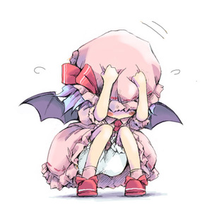 Rating: Safe Score: 0 Tags: 1girl bat_wings bloomers chibi cowering ham_(points) hat hiding lowres remilia_scarlet solo squatting team_shanghai_alice touhou_project wings User: DMSchmidt