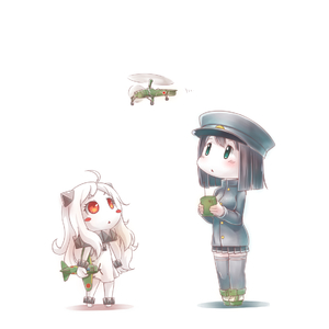 Rating: Safe Score: 0 Tags: 10s 2girls ahoge aircraft airplane akitsu_maru_(kantai_collection) anklet autogyro barefoot black_hair blush_stickers controller green_eyes hat helicopter horns jewellery kantai_collection kayaba_ka-1 mittens multiple_girls northern_ocean_hime pale_skin red_eyes remote_control shinkaisei-kan thighhighs triangle_mouth white_hair yaosera zettai_ryouiki User: Domestic_Importer