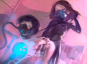 Rating: Explicit Score: 1 Tags: 1=2 2girls bdsm black_hair bodysuit bondage bound breasts collar corset gas_mask heart heart-shaped_pupils latex_bodysuit leash mask multiple_girls nipples nude original small_breasts symbol-shaped_pupils yuri User: DMSchmidt