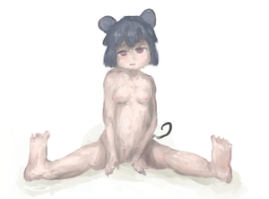 Rating: Questionable Score: 0 Tags: 1girl animal_ears breasts feet full_body grey_hair head_tilt legs looking_at_viewer mouse_ears mouse_tail navel nazrin nipples nude open_mouth pussy qmor red_eyes short_hair simple_background sitting small_breasts soles solo spread_legs tail toes torogao touhou_project traditional_media uncensored white_background User: DMSchmidt