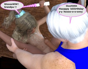 Rating: Explicit Score: 10 Tags: 1boy 1girl 3dcg blonde_hair cum cum_on_body danbaddriver dildo ejaculation english flat_chest grandfather_and_granddaughter long_hair nail_polish navel nipples nude open_mouth penis photorealistic ponytail sex_toy User: fantasy-lover