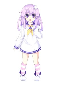 Rating: Safe Score: 0 Tags: 1girl absurdres blush choker d-pad d-pad_hair_ornament eyebrows_visible_through_hair full_body hair_ornament highres horizontal_stripes long_hair long_sleeves looking_at_viewer nepgear neptune_(series) open_mouth oyat purple_eyes purple_hair sailor_collar smile solo striped striped_legwear white_background younger User: Domestic_Importer