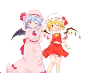 Rating: Safe Score: 0 Tags: 2girls ;d alternate_hairstyle arm_behind_back ascot bat_wings bent_elbow blonde_hair blouse bow braid brooch buttons center_frills collared_blouse collared_shirt eyebrows_visible_through_hair eyelashes fang feet_out_of_frame flandre_scarlet frilled_skirt frilled_sleeves frills gem gradient_eyes hair_ribbon hand_up hat hat_bow highres index_finger_raised jewellery knees_together light_blue_hair light_blush long_skirt looking_at_viewer low_twintails mob_cap multicolored multicolored_eyes multiple_girls nanarya one_eye_closed open_mouth pink_blouse pink_hat pink_skirt puffy_short_sleeves puffy_sleeves red_bow red_eyes red_neckwear red_ribbon red_skirt red_vest remilia_scarlet ribbon shirt short_hair short_sleeves simple_background single_braid skirt smile standing touhou_project twin_tails vest white_background white_hat white_shirt wing_collar wings wrist_cuffs yellow_eyes User: DMSchmidt